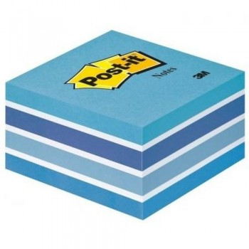 NOTAS ADHESIVAS CUBO 76X76X45MM. PASTEL AZUL 450 HOJAS POST-IT