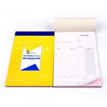 Talonario factura IVA duplicada 23x14,8cm  50 juegos Ofiexperts