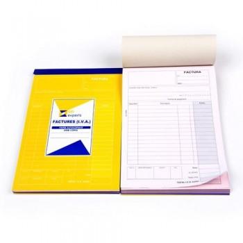 Talonario factura IVA duplicada catalán 23x14,8cm 50 juegos Ofiexperts