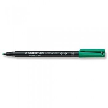 Rotulador permanente punta M 1 mm verde Lumocolor 317 Staedtler