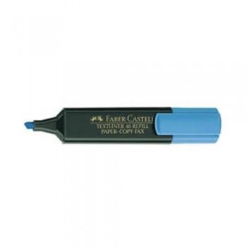 Rotulador fluorescente punta biselada 1-5 mm azul Faber Castell