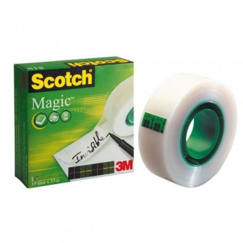CINTA ADHESIVA INVISIBLE 33MX19 MM SCOTCH MAGIC