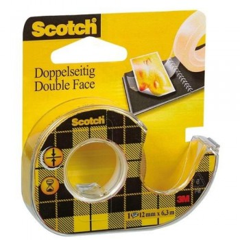 CINTA ADHESIVA DOBLE CARA 6MX12 MM EN PORTARROLLOS RECARGABLE SCOTCH