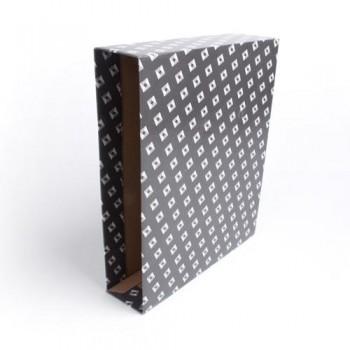 Caja archivador folio negro Premium jaspeado Ofiexperts