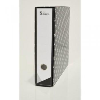 Archivador folio 75mm negro jaspeado Premium con rado Ofiexperts