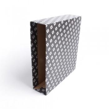 Caja archivador A4 negro Premium jaspeado Ofiexperts