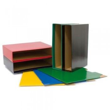 Caja archivador folio 75 mm verde Grafoplas