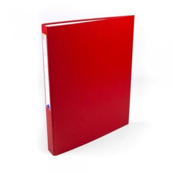 Carpeta anillas folio 4 anillas 25 mm forrado pp rojo Ofiexperts