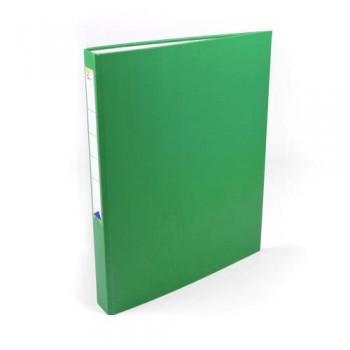 Carpeta anillas folio 4 anillas 25 mm forrado pp verde Ofiexperts
