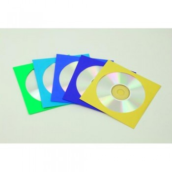 SOBRES CD COLORES SURTIDOS PAQUETE DE 50 FELLOWES