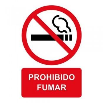 Pictograma adhesivo 120x180 mm. prohibido fumar Apli