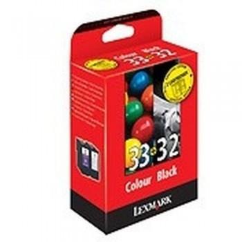 LEXMARK CARTUCHO TINTA N32+N33
