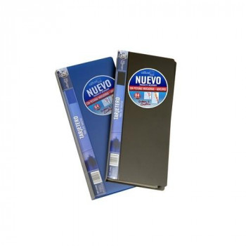 Tarjetero fijo lomo personalizable para 240 tarjetas azul Office Box