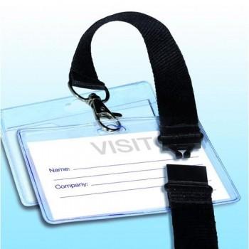 Identificador con cordón seguridad 90x56 mm.  Caja 25 un. Apli