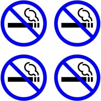 Pictograma adhesivo 57x57  mm. prohibido fumar Apli
