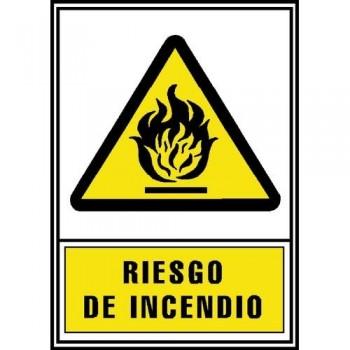 SE?AL PVC NORMALIZADA   RIESGO DE INCENDIO   210X297 AMARILLO ARCHIVO 2000