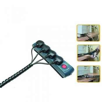 Organizador cables CableZip Negro