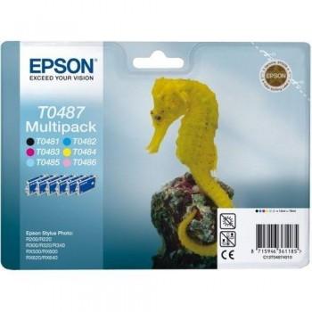 EPSON CARTUCHO TINTA T0487 K/C/M/Y