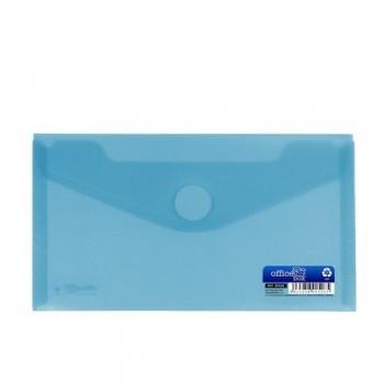 Sobre 225x125 mm recibo PP cierre velcro azul.