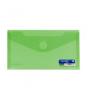 Sobre 225x125 mm recibo PP cierre velcro verde.