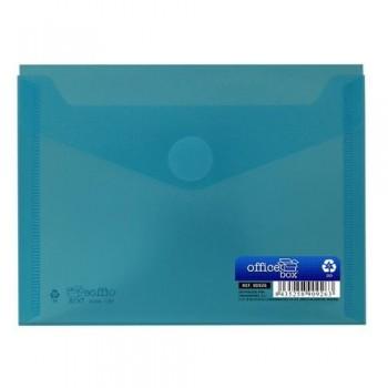 Sobre A6 160x120 mm PP cierre velcro azul.