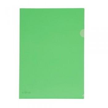 Dossier uñero A4 PP 250 micras 220x310 mm. verde transparente