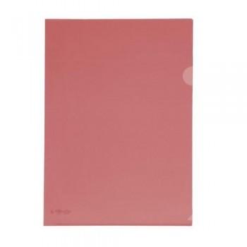 Dossier uñero A4 PP 250 micras 220x310 mm. rojo transparente