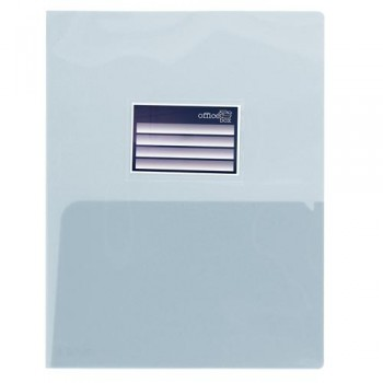 DOSSIER A4 PP 250 MICRAS DOBLE CON TARJETERO CRISTAL OFFICE BOX