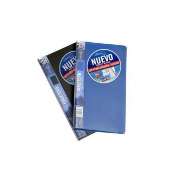 TARJETERO CORTO PARA 60 TARJETAS 120X210MM LOMO 10MM. PP AZUL MARINO. OFFICE BOX
