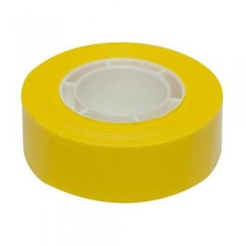 Cinta adhesiva PP en rollo 19mmx33m amarilla Apli