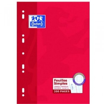 Papel A4 90 gr 100 hojas seyes 9 taladros Oxford