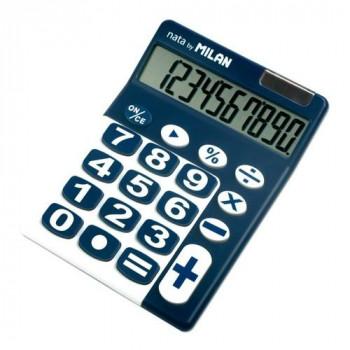 Calculadora sobremesa 10 dígitos teclas grandes azul Milan