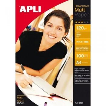 Papel foto A4 120 gr. 100 hojas mate inkjet Apli