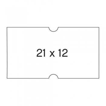 Etiquetas removibles blancas en rollo para máquina etiquetadora 6 rollos 1000 etiq. 21X12 Apli