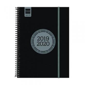 Agenda escolar S/V E10 negro ESPIR LABEL Finocam castellano