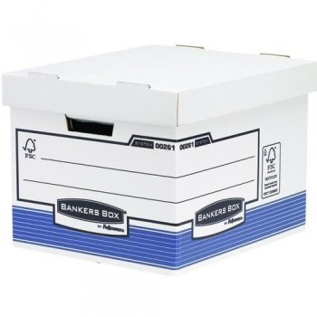 CONTENEDOR ARCHIVO AUTOMONTABLE FOLIO BANKERS BOX BLANCO AZUL FELLOWES