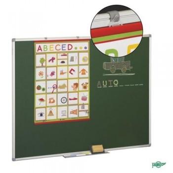 Pizarra estratificada verde antireflectante marco aluminio 122x150 cm Faibo