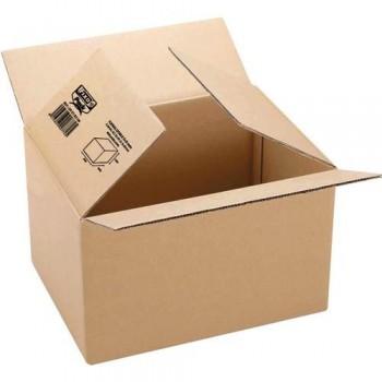 Caja embalaje kraft marrón 300X200X150mm. canal sencillo 3 mm. Fixo