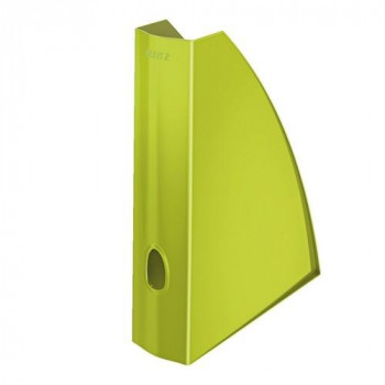 Revistero A4 Leitz WoW formato vertical lomo 60 verde metalizado