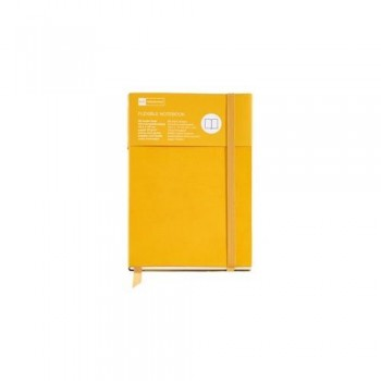 CUADERNO FLEXIBLE 8? 96 HOJAS LISAS 16 MICROPERFORADAS AMARILLO SUNFLOWER CON GOMA FLEXIBLE TOP NORDIC COLOURS MR