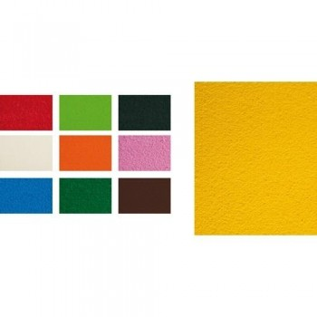 Goma EVA 400x600x2,1mm toalla 5 láminas amarillo Fixo Kids