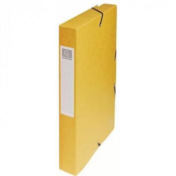 Carpeta proyecto A4 lomo 40 mm. amarillo Exabox Cartulina Lustrada Nature Future