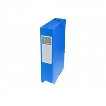 Carpeta proyecto A4 lomo 60 mm. azul Exabox Cartulina Lustrada Nature Future