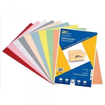 Subcarpeta A4 180 gr. color pastel Crema Ofiexperts