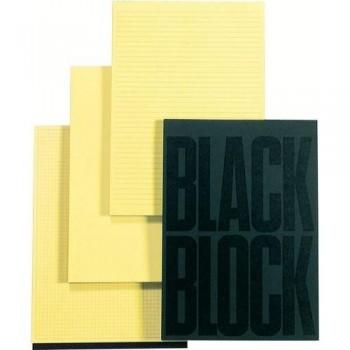 BLOC NOTAS A4 70 HOJAS AMARILLAS LISA BLACK BLOCK EXACOMPTA