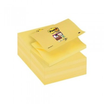 NOTAS ADHESIVAS Z-NOTAS SUPER STICKY 76X127 MM. PACK DE 12 BLOCS COLOR AMARILLO CANARIO POST IT