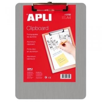 Tabla aluminio con pinza A4 Apli