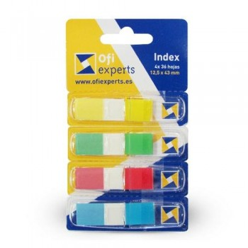 INDEX PEQUE?O 4 COLORES CON DISPENSADOR COLORES STD 4X36 OFIEXPERTS