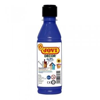 Pintura multisuperficie botella 250 ml. color Azul Ultramar JOVIDECOR