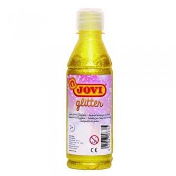 Témpera purpurina botella 250 ml. Amarillo Jovi Glitter